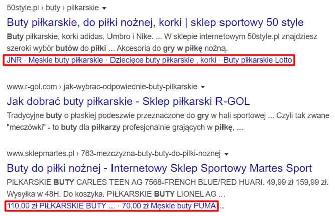 Przykłady rozszerzeń Google Ads