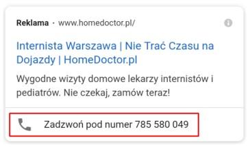 Rozszerzenie połączeń w Google Ads