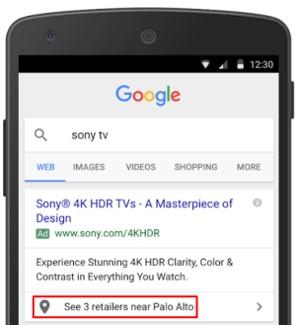Rozszerzenie powiązanej lokalizacji w Google Ads