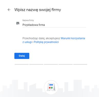 Google Moja Firma - zakładanie wizytówki