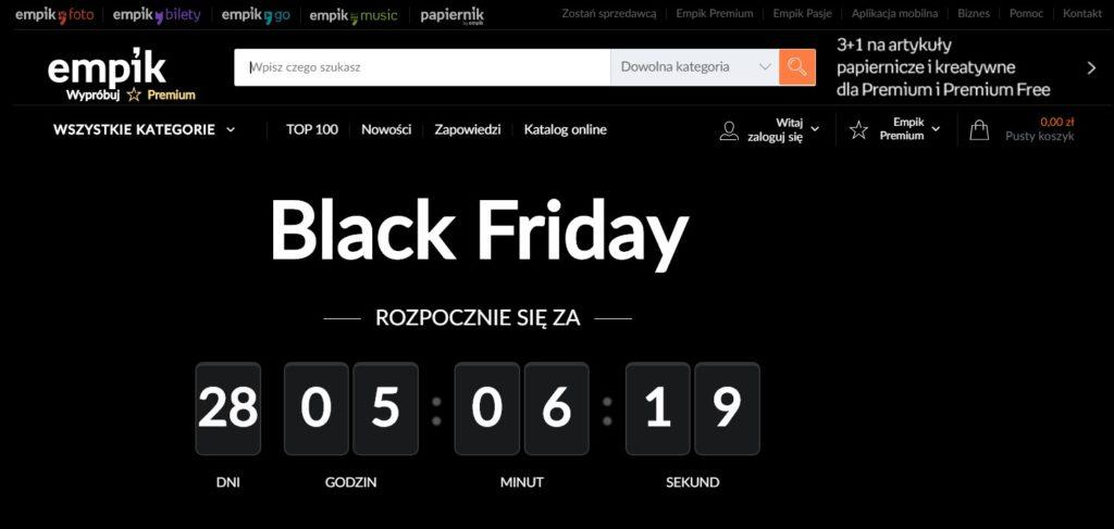 Landing page empik.com na Black Friday